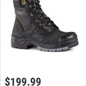 Men's Dakota 8'in Quad Steel Toe Work Boots 🥾